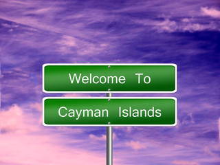 Cayman Islands Travel Sign