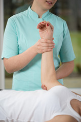 Physiotherapist and the patient