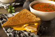Homemade Grilled Cheese with Tomato Soup - 75972758