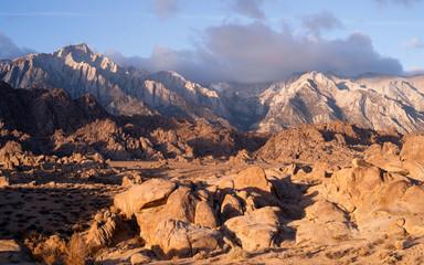 Golden Alpine Sunrise Alabama Hills Sierra Nevada Range CA