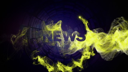News Gold Text and Particles, and Tunnel Monitor