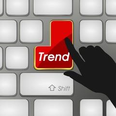 Trend development trend forecast chart
