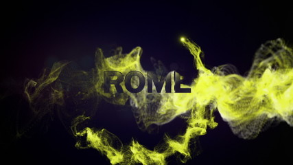 Rome Gold Text and Particles, Background