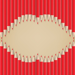 lips kiss shape out of pencils valentines day