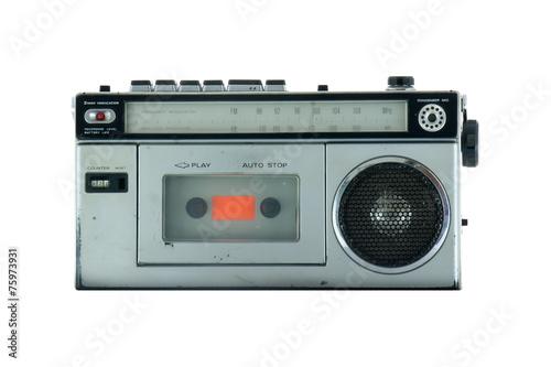 Leinwanddruck Bild old radio