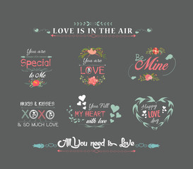 valentines day labels chalkboard