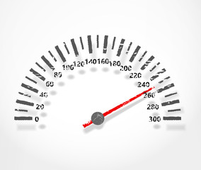 Speedometer. Abstract dashboard with shadow