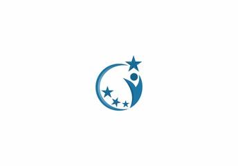 people succes business logo vector.