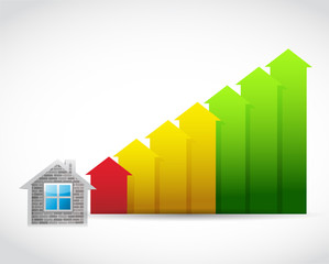 house prices up illustration design
