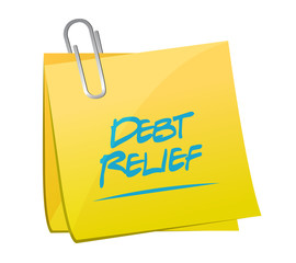 debt relief memo post illustration design