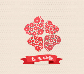 good luck Valentine's Day background with heart flower