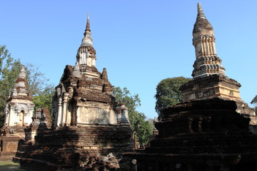 Wat Chedi Ched Thaeo, Si Satchanalai Historical Park, Thiland