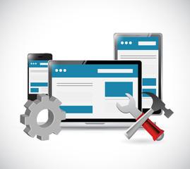 online website and tools illustration design
