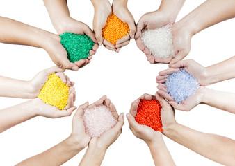Plastic beads compound