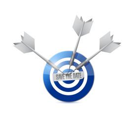 save the time target illustration design