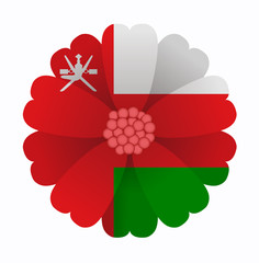 Flag flower Oman
