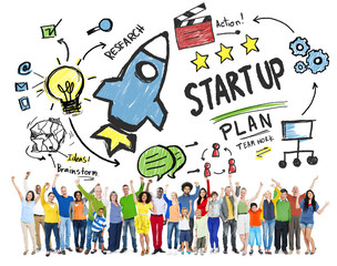 Start Up Business Launch Success Diversity People Concept
