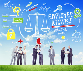 Employee Rights Employment Equality Job Communication Concept