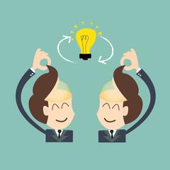Exchange ideas - conversational exchange between two individuals