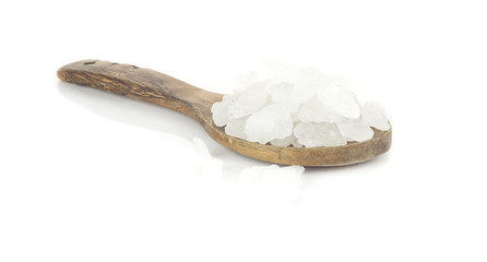 White crystalline sugar on white