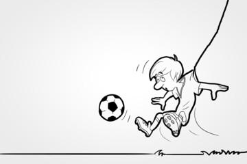 Funny footballer