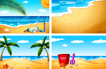 Four beach sceneries