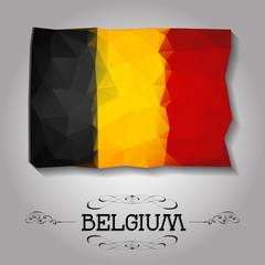 Vector geometric polygonal Belgium flag.
