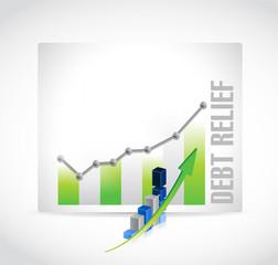 debt relief business graph illustration design