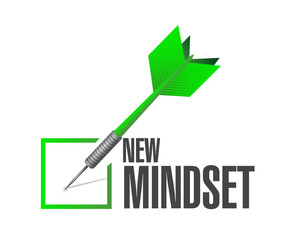 new mindset dart check mark illustration design