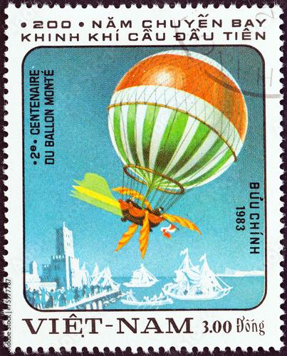 Aluminium Ballon Blanchard and Jeffries balloon, 1785 (Vietnam 1983)