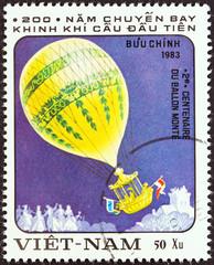 Charles hydrogen balloon, 1783 (Vietnam 1983)