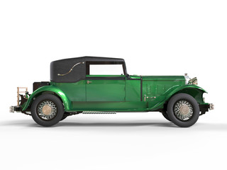 Green wlwgant vintage car - side view