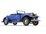 Dark blue vintage covertible car poster