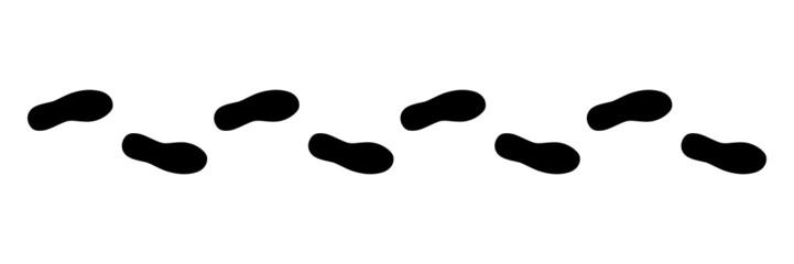 Spur, Schuhabdruck, Vektor, schwarz, freigestellt