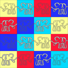 elephant seamless pattern. vector illustration