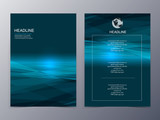 blue technology graphic design element flyer template