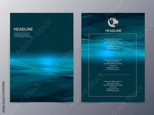 blue technology graphic design element flyer template - 75979980