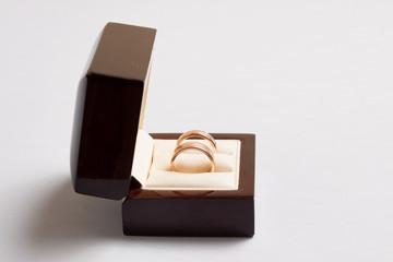 Wedding rings in open box