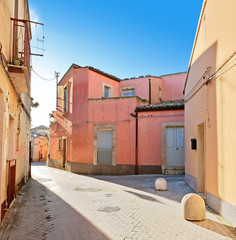 Colorful Street in Palazzolo Acreide, Sicily