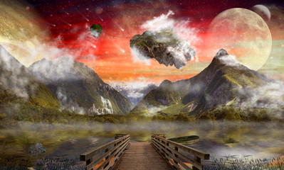 Fantasy land, wonderland, dreamland, digital art