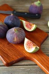 Sweet figs on the board