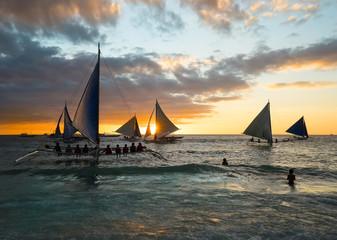 Evening walk under sails