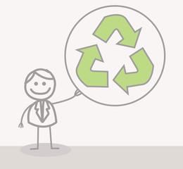 Funny Doodle : Businessman Ecology