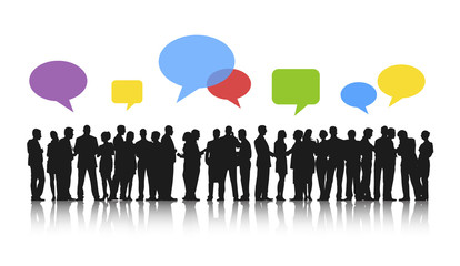Business People Team Meeting Speech Bubble Concept