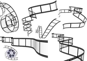 Set of filmstrips