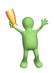 Jumping puppet with cup