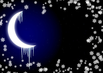 Icicles on moon