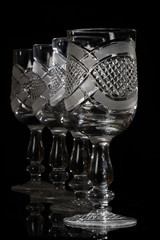 Beautiful crystal goblets