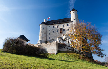 Bobolice Castle in Autum