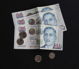 Singapore money Notes and Coins